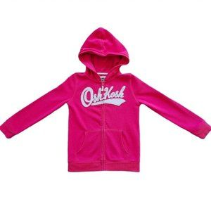 4/$30 OshKosh Girl's Pink Zip Up Hoodie, size 8